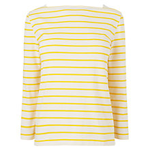 Buy Boutique by Jaeger Broderie Anglaise Stripe Breton Top, Yellow Online at johnlewis.com