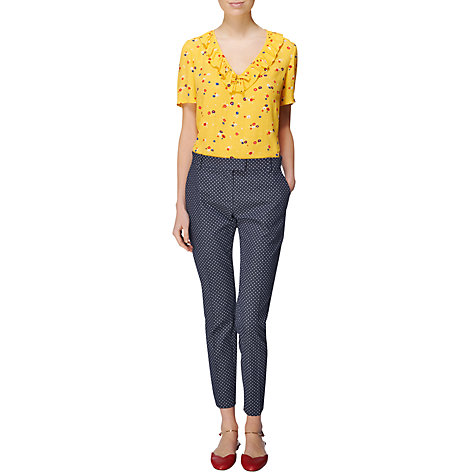 Buy Boutique by Jaeger Frill Blouse, Yellow Online at johnlewis.com