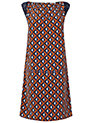Buy Jaeger Geo Print Panel Dress, Orange, 6 Online at johnlewis.com