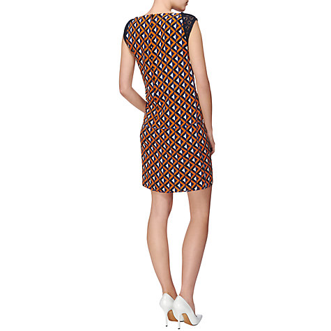 Buy Jaeger Geo Print Panel Dress, Orange Online at johnlewis.com