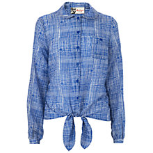 Buy Boutique by Jaeger Summer Checked Shirt, Blue Online at johnlewis.com