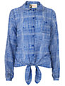 Boutique by Jaeger Summer Checked Shirt, Blue