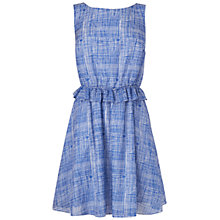 Buy Boutique by Jaeger Summer Check Dress, Blue Online at johnlewis.com