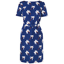 Buy Boutique by Jaeger Palm Tree Dress, Blue Online at johnlewis.com