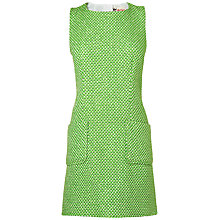 Buy Boutique by Jaeger Fluro Tweed Dress, Bright Green Online at johnlewis.com