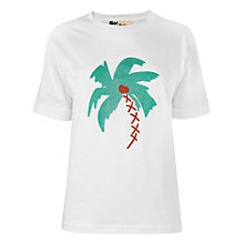 Buy Boutique by Jaeger Palm Tree T-Shirt, White Online at johnlewis.com