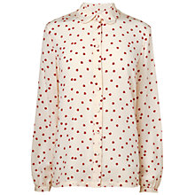 Buy Boutique by Jaeger Ladybird Scalloped Blouse, Ivory Online at johnlewis.com