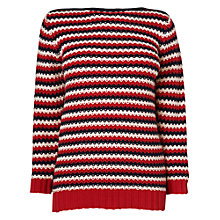Buy Boutique by Jaeger Daisy Stitch Stripe Jumper, Multi Online at johnlewis.com