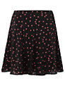 Boutique by Jaeger Ladybird Skater Skirt, Black