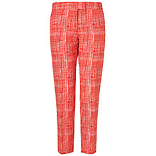 Buy Boutique by Jaeger Summer Silk Blend Check Trousers, Red Online at johnlewis.com
