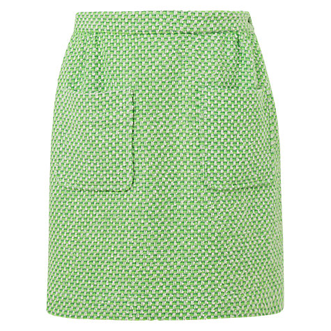 Buy Boutique by Jaeger Patch Pocket Tweed Skirt, Bright Green Online at johnlewis.com