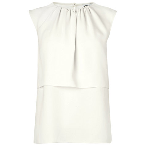 Buy Jaeger London Layered Summer Blouse, Ivory Online at johnlewis.com
