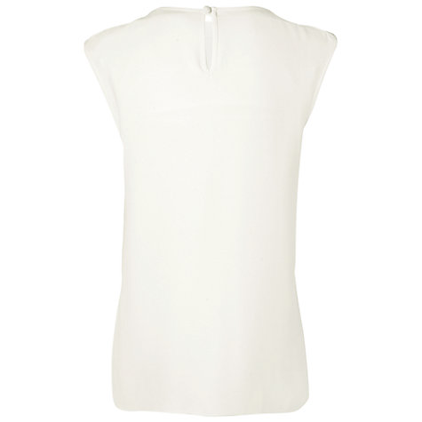 Buy Jaeger Layered Summer Blouse, Ivory Online at johnlewis.com