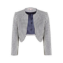 Buy Jacques Vert Striped Bolero, Navy/White Online at johnlewis.com