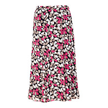 Buy Jacques Vert Petal Print Skirt, Navy/Pink Online at johnlewis.com