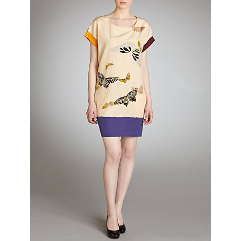 Buy Hoss Intropia Butterfly Print Tunic Dress, Electric Blue Online at johnlewis.com