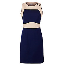 Buy Hoss Intropia Colour Block Dress, Navy Online at johnlewis.com