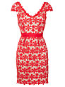 Hoss Intropia Lace Crochet Dress, Red