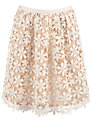 Hoss Intropia Lace Crochet Skirt, Cream