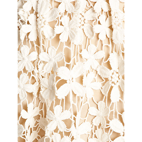 Buy Hoss Intropia Lace Crochet Skirt, Cream Online at johnlewis.com