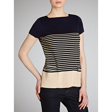 Buy Hoss Intropia Nautical Striped Jumper, Navy Online at johnlewis.com