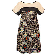 Buy Hoss Intropia Silk Blend Oriental Dress, Black Online at johnlewis.com