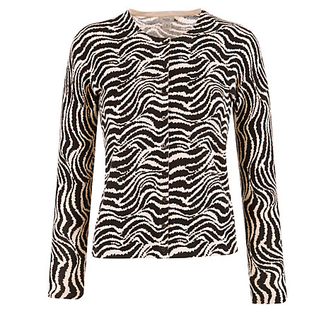 Buy Hoss Intropia Zebra Print Cardigan, Black Online at johnlewis.com