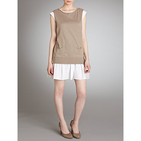 Buy Hoss Intropia 2 In 1 Jumper Dress, Stone Online at johnlewis.com