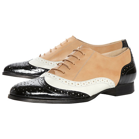 Buy Dune Laneside Colour Block Lace-Up Leather Brogues Online at johnlewis.com