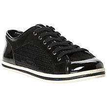 Buy Dune Luxe Sequin Suede Mix Lace-Up Trainers Online at johnlewis.com