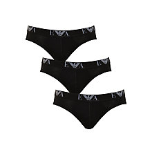 Buy Emporio Armani Briefs, Pack of 3 Online at johnlewis.com