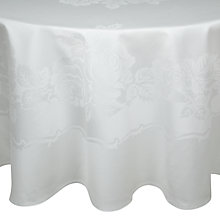 Buy John Lewis Rose Damask Tablecloths, Rounded Online at johnlewis.com