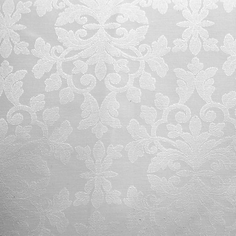 Buy John Lewis Regency Damask Rounded Tablecloths, White Online at johnlewis.com