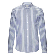 Buy John Lewis Oxford Wide Stripe Long Sleeve Shirt Online at johnlewis.com