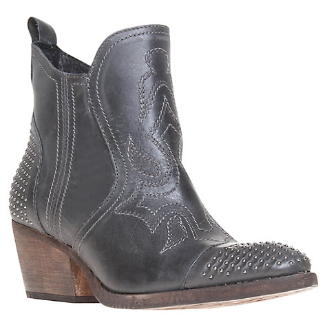 Buy KG by Kurt Geiger Whisky Distressed Leather Cowboy Boots Online at johnlewis.com