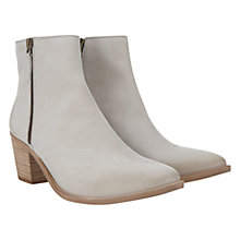 Buy Mint Velvet Side Zip Nubuck Ankle Boots, Stone Online at johnlewis.com