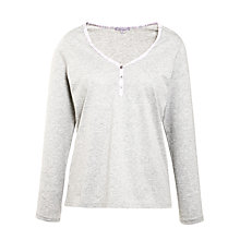 Buy John Lewis Deauville Long Sleeve Pyjama Top, Grey Online at johnlewis.com