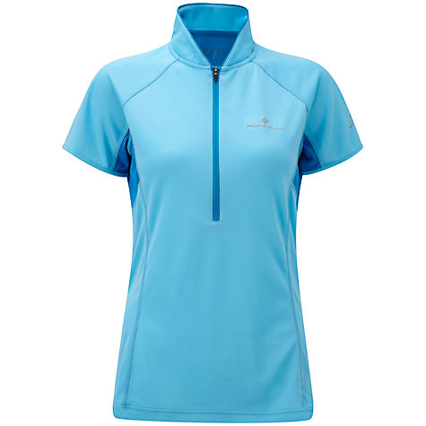 Buy Ronhill Women's Trail Short Sleeve 1/2 Zip T-Shirt, Sky Online at johnlewis.com