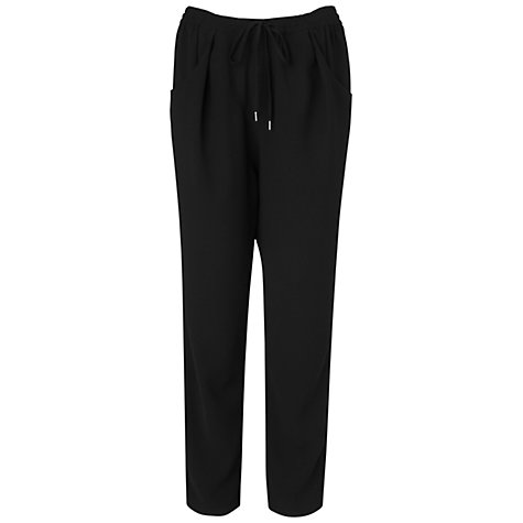 Buy Jaeger Peg Leg Trousers, Black Online at johnlewis.com