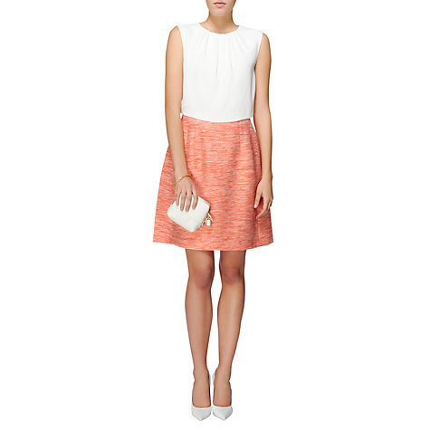 Buy Jaeger Summer Tweed Skirt, Pink Online at johnlewis.com