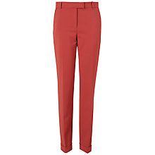 Buy Jaeger London Turn Up Trousers, Pink Online at johnlewis.com
