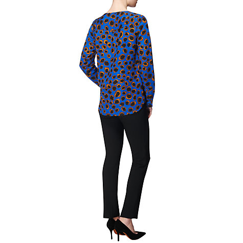 Buy Jaeger Print Tunic Top, Cobalt Online at johnlewis.com