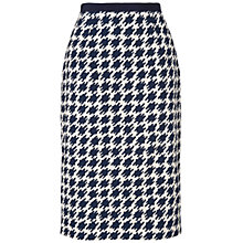 Buy Jaeger Dogstooth Skirt, Navy Online at johnlewis.com