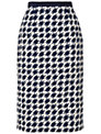 Jaeger Dogstooth Skirt, Navy