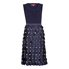 Buy Jacques Vert Petal Dress, Navy Online at johnlewis.com