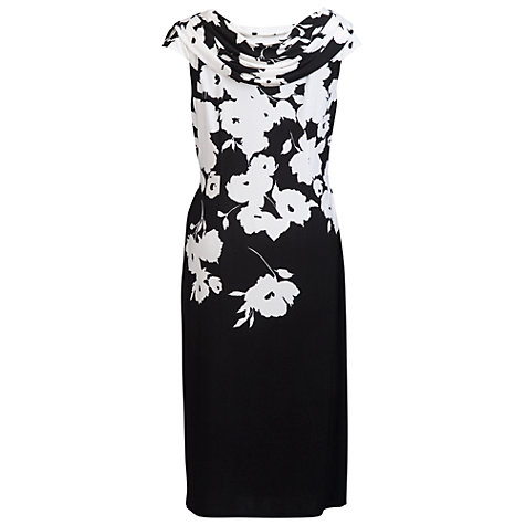 Buy Chesca Border Print Jersey Dress, Black/White Online at johnlewis.com