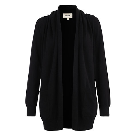 Buy Havren Cashmere Blend Cardigan, Black Online at johnlewis.com