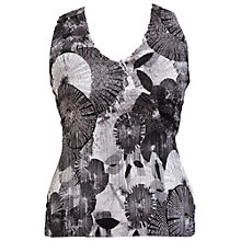 Buy Chesca Abstract Print Camisole, Black Online at johnlewis.com