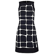 Buy James Lakeland Block Print Dress, Black/White Online at johnlewis.com
