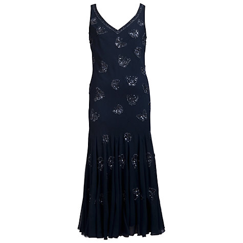 Buy Chesca Butterfly Beaded Dress, Navy Online at johnlewis.com